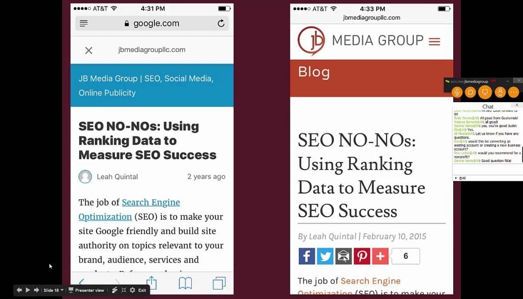 2017 SEO Update: Mobile-First Indexing with Leah Quintal