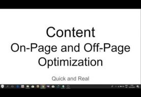#8 2018 SEO Basics - Content Marketing On Page and Off Page SEO Guide