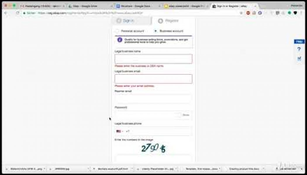 2018 Ebay Business – Powerseller Selling Secrets, SEO, Hacks : Create An Account On Ebay
